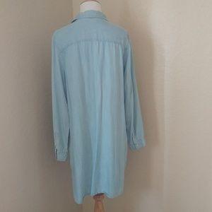 Banana Republic Dresses - Banana Republic Denim Chambray Shirt/Tunic Dress